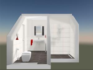 Dusch/WC vorne