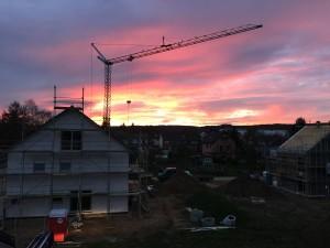 Ist das nicht ein geiler Sonnenaufgang?